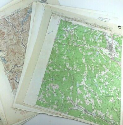 Lot of 10 Vintage USGS Topographical Chart Map New Hampshire