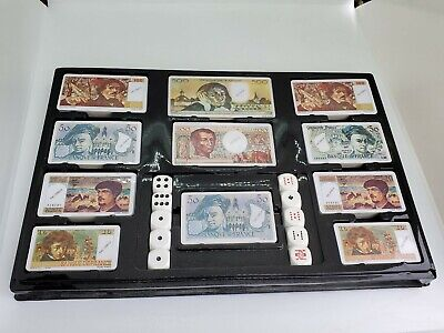 Vintage French Franc Fiche Poker Money Bills Chips Game by Italcards 135 Pieces