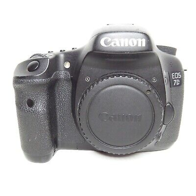 (FOR PARTS/AS IS) Canon EOS 7D 18.0MP Digital SLR Camera - Black (Body Only)