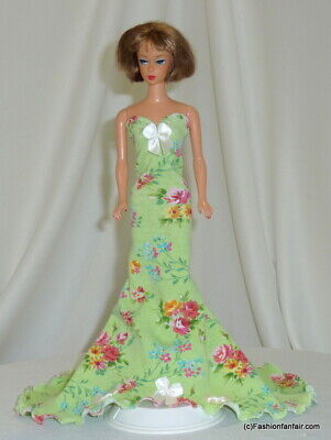 Floral Charm Ball Handmade for Vintage Reproduction Silkstone Barbie Dress 64