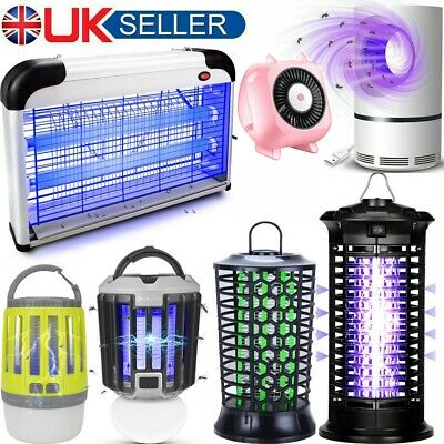 Electric Insect Killer Mosquito Fly Pest Catcher Trap UV LED Lamp Bug Zapper UK