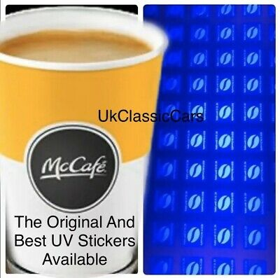 240 Mcdonalds  100% Ultraviolet Coffee Stickers Uv Hot Drink Vouchers