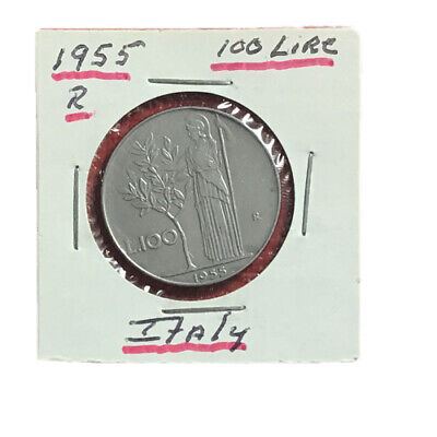 1955R Italy 100 Lire Almost Uncirculated Condition