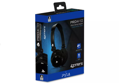 BOXED NEW PS4 Gaming Chat  PRO4-10 Headset with Mic (Black) Genuine - UK STOCK