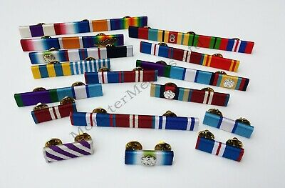 Military &  Emergency Service Made to Order Custom Ribbon Bars (Pin on Stud)