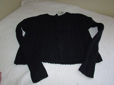 Abercrombie & Fitch Kids Girls Teen XL X-Large Navy Blue Cable Knit Sweater BNWT