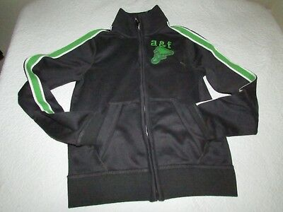 Abercrombie & Fitch Kids Boys Muscle Medium M Zip-Up Track Jacket Dark Grey NWT