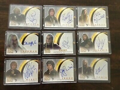 2003 Lord of the Rings LOTR Two Towers AUTO autograph Hill Theoden