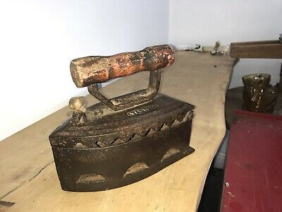 RARE Cast Iron Special Tested charcoal fireplace sad box flat antique old heavy