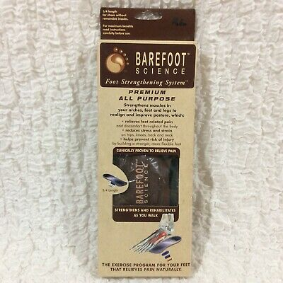 """Barefoot Science Foot Stregthening System XL 3/4"""" Insole Arch Support 5 Inserts"""