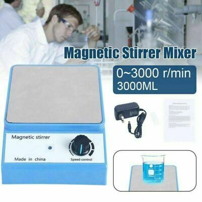 3000rpm Magnetic Stirrer Mixer Blender Machine Laboratory with Stirrer Bar 110V
