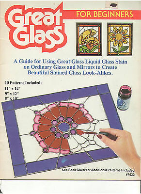 Stained Glass 10 Patterns Book Candle Reindeer Rose Butterfly Bird Santa Fruits