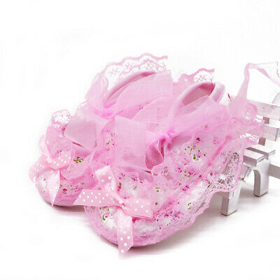 Toddler Baby Cute Non-Slip Newborn Infant Child Toddler Lace Frilly Flower Shoes