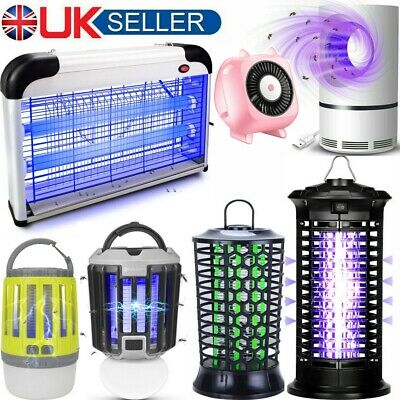 20W Pro Electric Fly Insect Bug Pest Mosquito Killer Zapper Catcher UV LED Lamp