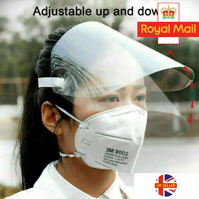 Full Face Visor Head Cover Transparent Protection Mask  Shield Clear Plastic PPE