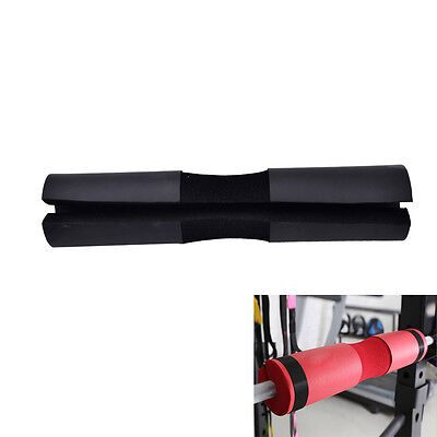 Barbell Pad Gel Supports Squat Bar Weight Lifting Neck Protect Pull Up Black ~JP