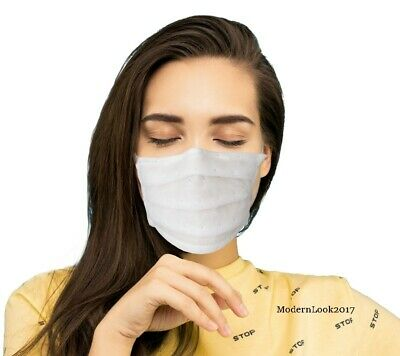 Protective Anti-Pollution Washable Reusable Face Mask Unisex White