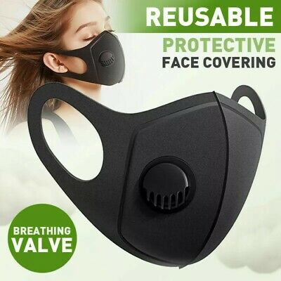 Face Mask - Protective Face Covering - Uk Seller - Reusable - Breathing Valve