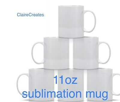 Set Of 4, 11oz sublimation mugs, High Quality With Boxes-dispatched Same Day