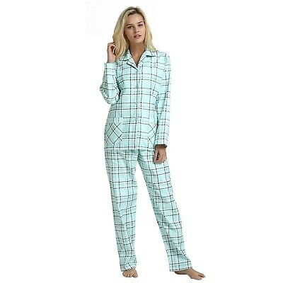 GLOBAL Comfy Pajamas for Women 2-Piece Warm and Cozy Flannel Pj Set of Lounge...
