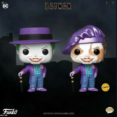 PREORDER Funko POP! Heroes: Batman 1989 The Joker #337 with Hat Chase +Common