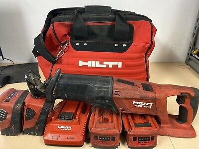 Hilti Reciprocating Saw 18V WSR18-A, 4 Batteries And Charger