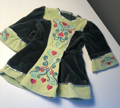 American Girl Doll Irish Dance Outfit of Today Nellie Green Velvet Dress ONLY