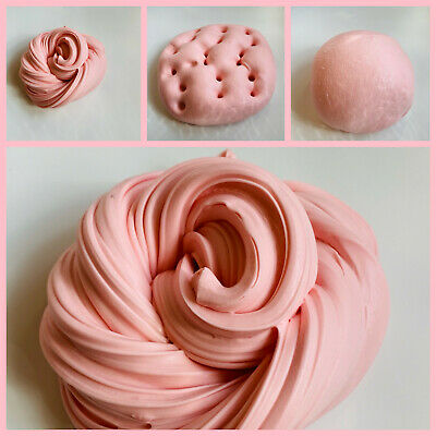 Strawberries & Cream Thick Butter Fluffy Slime Scented Amazing *UK Seller*