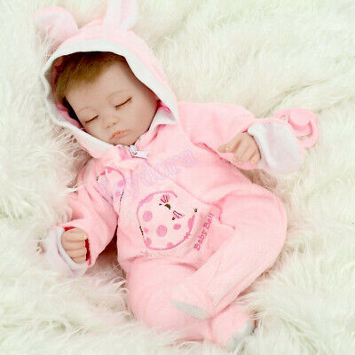 "16""Sleeping Newborn Vinyl Silicone Reborn Baby Doll Birth Gift Toys Lifelike Kid"