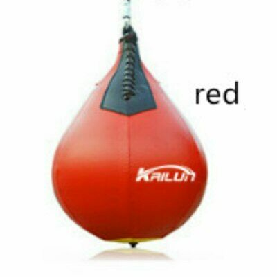 AQF Leather Speed Ball & Swivel Boxing Punch Bag MMA Speed Bag Training Set