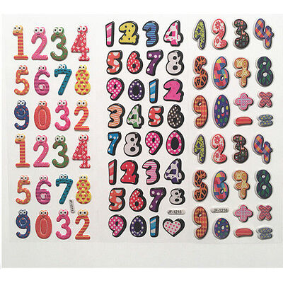 10X STICKERS FOR MAKING CARDS NUMBERS//LINES     23X10 CM STICKERS5084