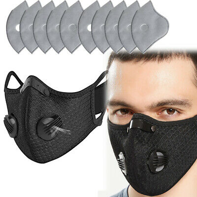 Activated Carbon Face Cover Filter Mouth Cover Anti-fog Cycling Respirator
