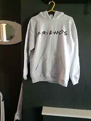 Friends Grey Hoodie Approx Size Small Or Kids 10 To 12 Years