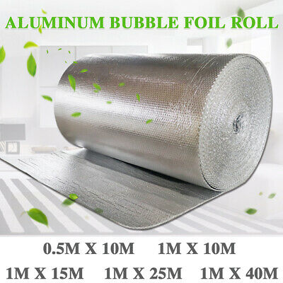 Aluminum Bubble Foil Roll Heat Insulation Thermal Roof Caravans Shed