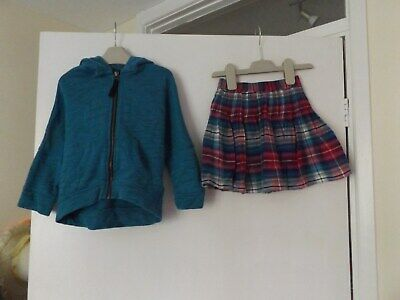 Next pretty skirt and matching hooded jacket set / outfit aged 3 Years