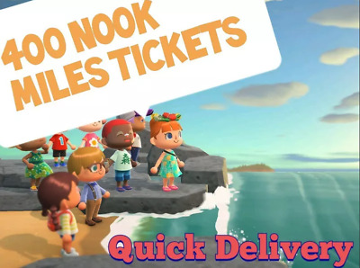 400 NOOK MILES TICKET New Horizons ✈️ CHEAP!