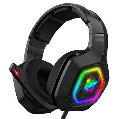 3.5mm K10 Gaming Headset LED MIC Headphones for PC Laptop PS4 Pro Xbox One X S