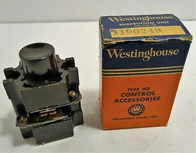 Vintage Westinghouse Push Button Unit #1190249 Type HD Pilot Lights 90249 NOS