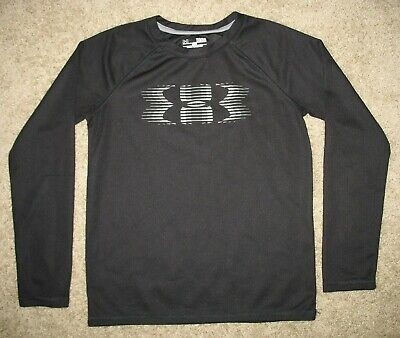 NWT boys youth Under Armour long sleeve hooded shirt size YLG