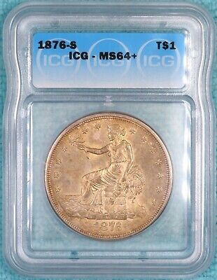 1876-S MS-64+ Trade Silver Dollar Uncirculated