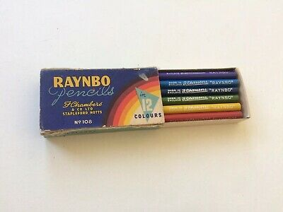 Unused NOS Box Of Vtg Raynbo Coloured Pencils