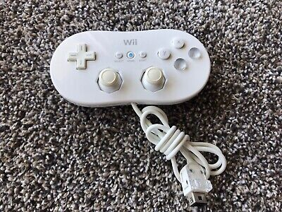 Official original Classic Controller for Nintendo Wii / WiiU - White Tested OEM