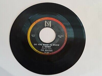 The Beatles Do You Want To Know A Secret - Thank You Girl 45Rpm  Vj 587 (Vg)