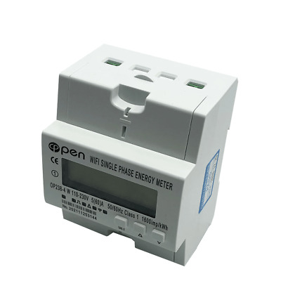 WiFi smart electric energy meter. Single phase Din rail 5(60)A 110V with over...