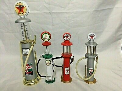 Gearbox Collectibles Replica gas pumps. 3 Texaco, 1 Eagle(not Gearbox)ALL MINT