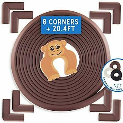Baby Proofing Edge and Corner Guards 13 Piece Furniture Safety Set [ 20.4ft Edg