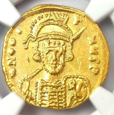 Byzantine Constantine IV AV Solidus Gold Coin 668-685 AD. Certified NGC MS (UNC)