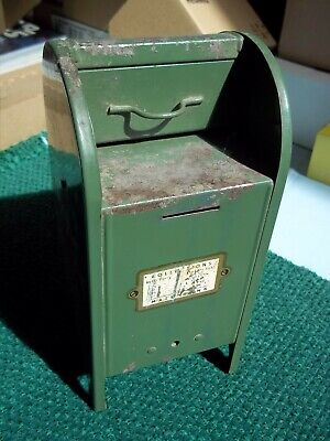 Vintage All-American Mail Box Bank Steel 9 inches high