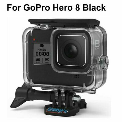 Waterproof Case Protector Cover For GoPro Hero 8 Black Cam 9H Tempered Glass US