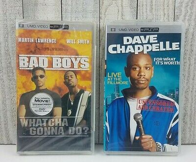 Lot 2 (PSP, UMD) BAD BOYS Will Smith & Dave Chappelle For What it's Worth NEW